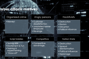 There are several motives why hackers end up doing cyber attacks.